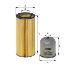E502H02D121 HENGST OIL FILTER - MERCEDES MP2-3