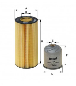 E502H02D121 HENGST OIL FILTER - MERCEDES MP2-3