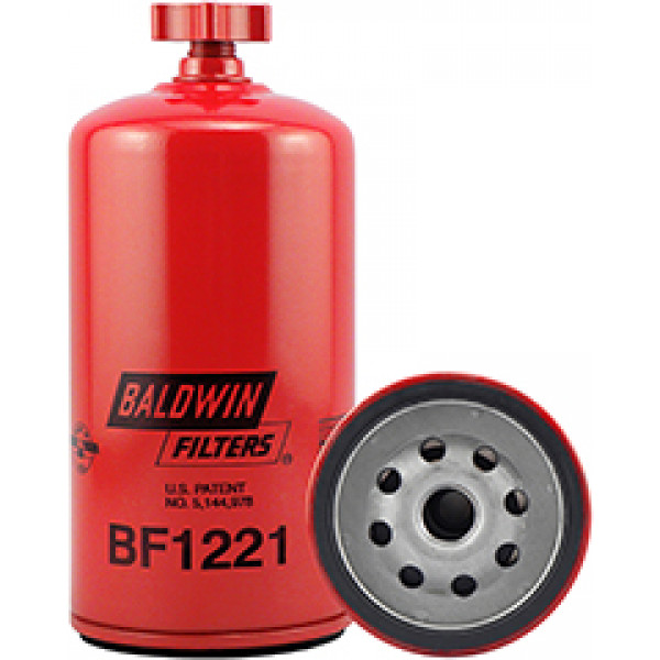 BF1221 Baldwin Heavy Duty Fuel/Water Separator Spin-on with Drain