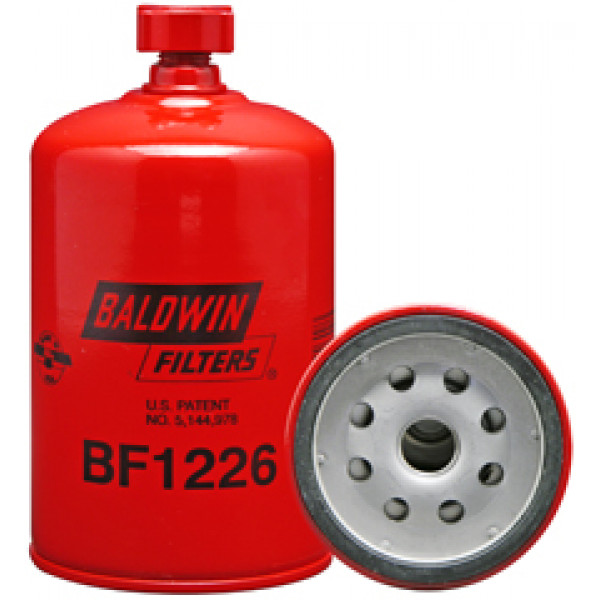 BF1226 Baldwin Heavy Duty Fuel/Water Separator Spin-on with Drain
