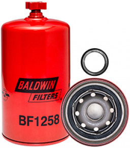 BF1258 Baldwin Heavy Duty Fuel/Water Separator Spin-on with Drain