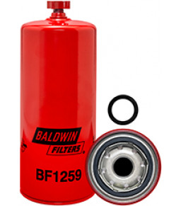 BF1259 Baldwin Heavy Duty Fuel/Water Separator Spin-on with Drain