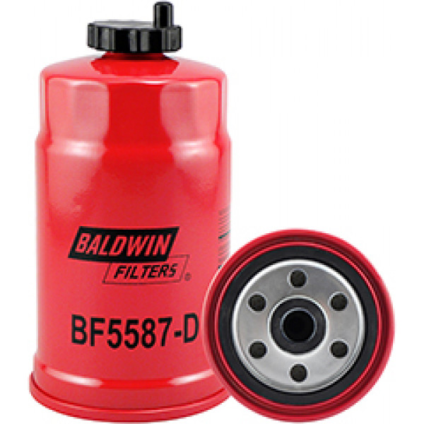 BF5587-D Baldwin Heavy Duty Secondary Fuel Spin-on with Drain