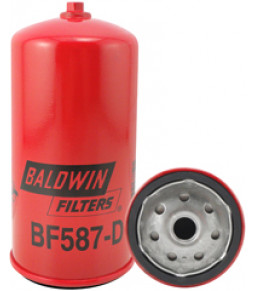 BF587-D Baldwin Heavy Duty Secondary Fuel Spin-on with Drain