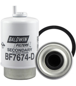 BF7674-D Baldwin Heavy Duty Secondary Fuel/Water Separator Element with Drain