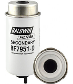 BF7951-D Baldwin Heavy Duty Secondary Fuel/Water Separator Element with Removable Drain
