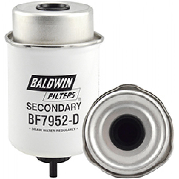 BF7952-D Baldwin Heavy Duty Secondary Fuel/Water Separator Element with Removable Drain
