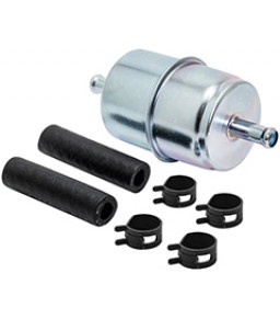 BF840-K1 Baldwin Heavy Duty In-Line Fuel Filter with Clamps and Hoses