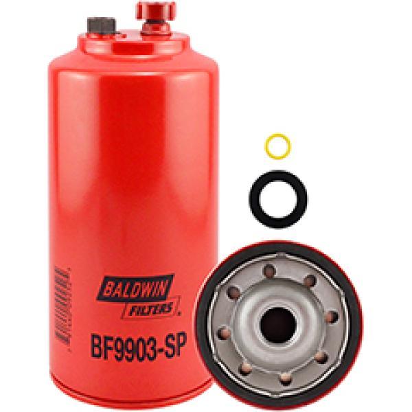 BF9903-SP Baldwin Heavy Duty FWS Spin-on w/Drain and Sensor Port