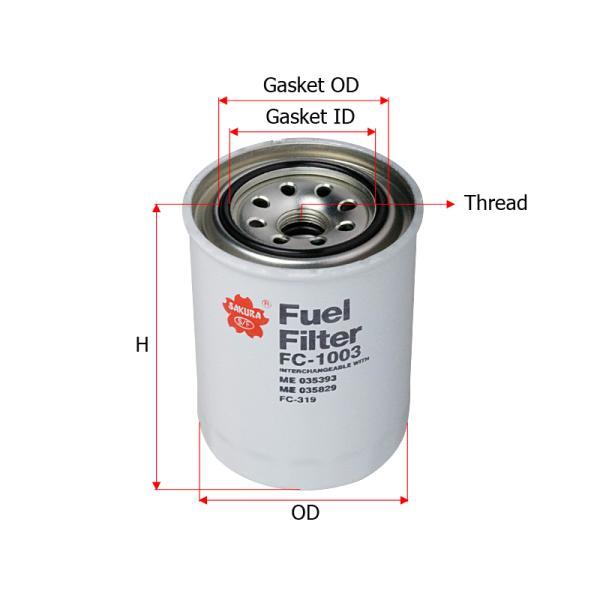 FC1003 Sakura Fuel Filter