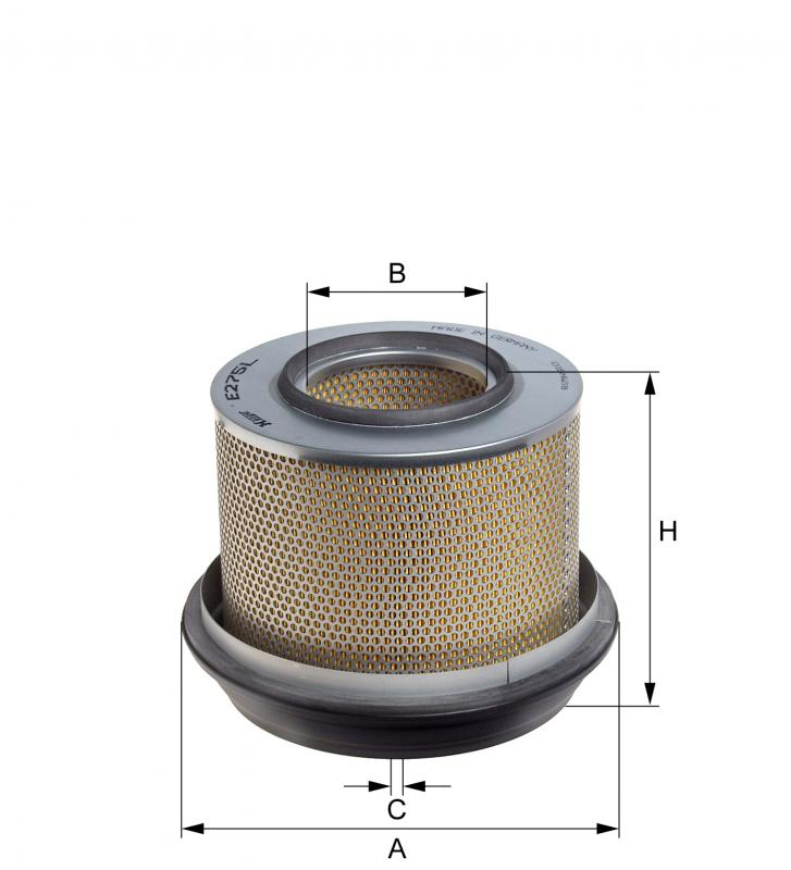 E275L HENGST AIR FILTER - MERCEDES LP